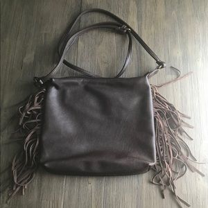 Handbags - Adjustable Crossbody Brown Tassel Purse